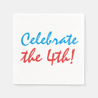 Celebrate the 4th of July Independence Day Disposable Napkin