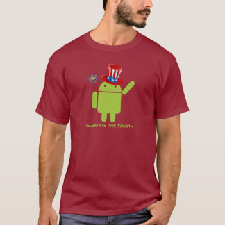 Celebrate The Fourth (Android Bug Droid) T-Shirt