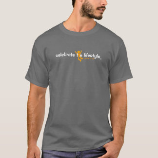 celebrate the lifestyle logo t-shirt