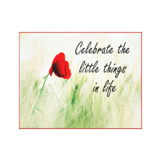 """Celebrate the Little Things"" Canvas Wall Art"