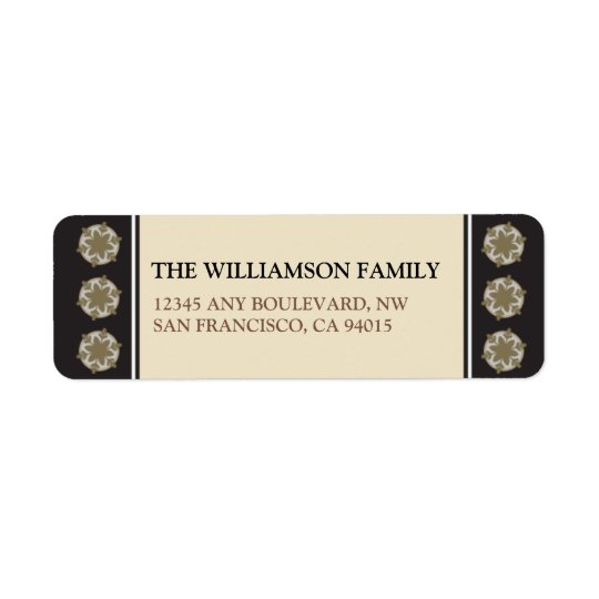 Celebrate the Season Return Address Labels (black)