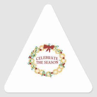 Celebrate The Season Triangle Stickers