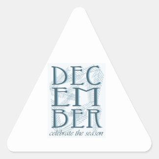 Celebrate The Season Triangle Sticker