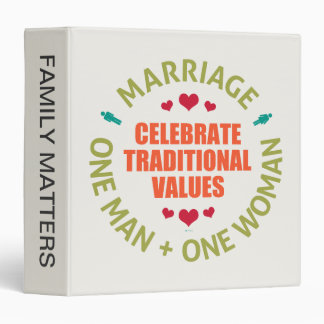 Celebrate Traditional Values 3 Ring Binders