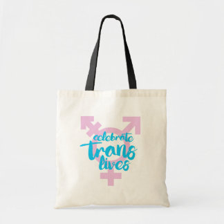 Celebrate Trans Lives - Trans Symbol - -  Tote Bag