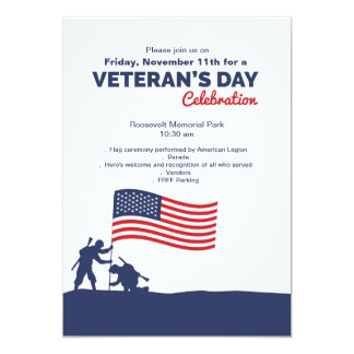 Celebrate Veteran's Day Invitation