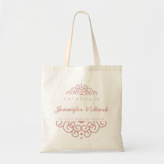Celebrate Wedding Event Tote Favor in Blush Pink