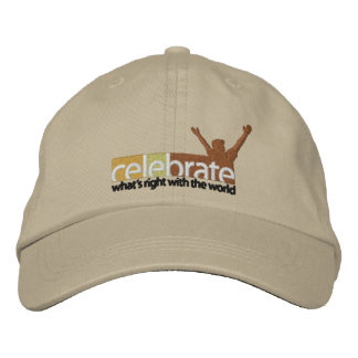 Celebrate-Whats-Right-no cut line RGB-300dpi Embroidered Baseball Cap