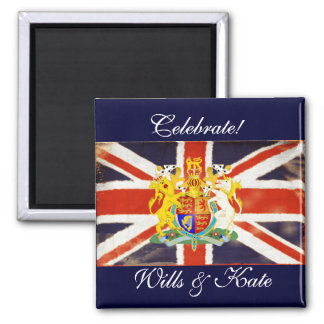 Celebrate Wills and Kate Keepsake Magnet