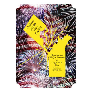 Celebrate With A BANG! July 4th Party Invitation