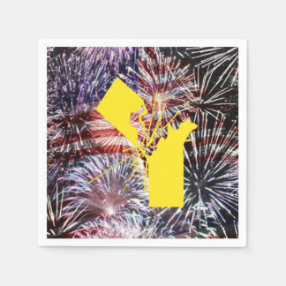 Celebrate With A BANG! July 4th Party Paper Napkin