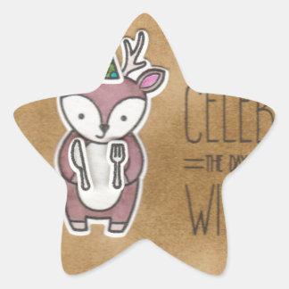 Celebrate with cake star sticker