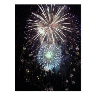 Celebrate With Fireworks Postcard