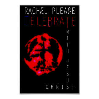 Celebrate with Jesus Christ Poster