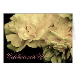 Celebrate with Us! Antique Roses Invitation Card