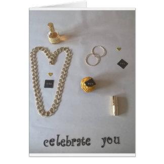 """celebrate you"" golden card"