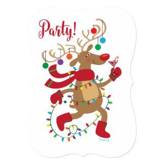 Celebrate Your Inner Blitzen Reindeer Christmas Card