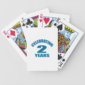 Celebrating 02 Years Birthday Designs Bicycle Playing Cards