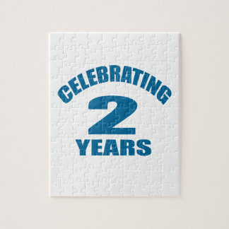 Celebrating 02 Years Birthday Designs Jigsaw Puzzle