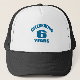 Celebrating 06 Years Birthday Designs Trucker Hat