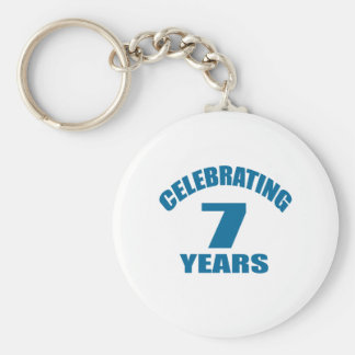 Celebrating 07 Years Birthday Designs Keychain