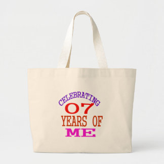Celebrating 07 Years Of Me Large Tote Bag