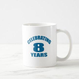 Celebrating 08 Years Birthday Designs Coffee Mug