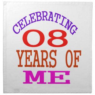Celebrating 08 Years Of Me Napkins