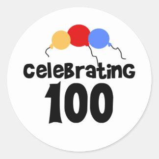 Celebrating 100  classic round sticker