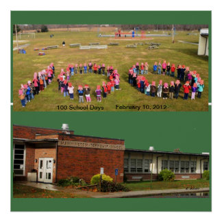 Celebrating 100 Days at Mannington Twp School Poster