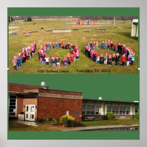 Celebrating 100 Days at Mannington Twp School Print