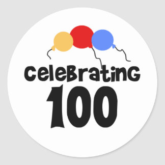 Celebrating 100  stickers