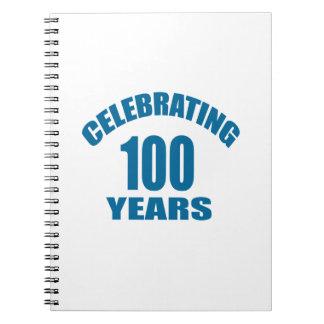 Celebrating 100 Years Birthday Designs Notebook