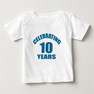 Celebrating 10 Years Birthday Designs Baby T-Shirt