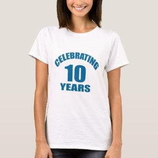 Celebrating 10 Years Birthday Designs T-Shirt