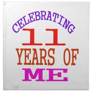 Celebrating 11 Years Of Me Printed Napkin