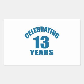Celebrating 13 Years Birthday Designs Sticker