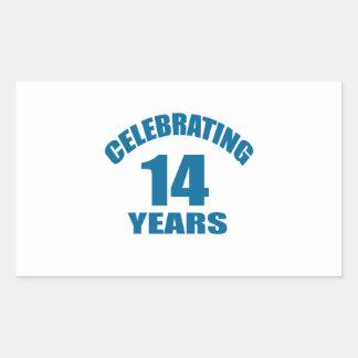 Celebrating 14 Years Birthday Designs Sticker