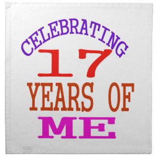 Celebrating 17 Years Of Me Printed Napkin