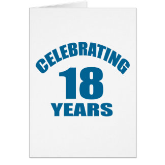 Celebrating 18 Years Birthday Designs Card