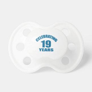 Celebrating 19 Years Birthday Designs Pacifier