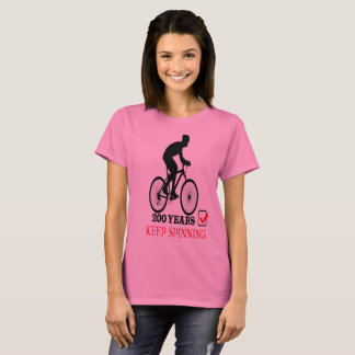 Celebrating 200 Years Of The Bicycle Keep Spinning T-Shirt