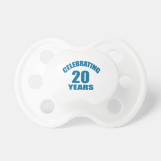 Celebrating 20 Years Birthday Designs Pacifier