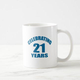 Celebrating 21 Years Birthday Designs Coffee Mug