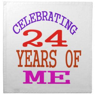 Celebrating 24 Years Of Me Napkins