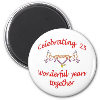 CELEBRATING 25 YEARS 2 INCH ROUND MAGNET