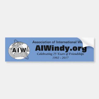 Celebrating 25 Years of Friendships, AIW Logo Bumper Sticker