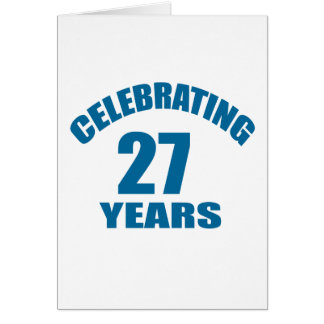 Celebrating 27 Years Birthday Designs Card