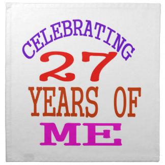 Celebrating 27 Years Of Me Napkins