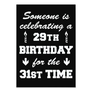Celebrating 29th Birthday 31st Time Invitation